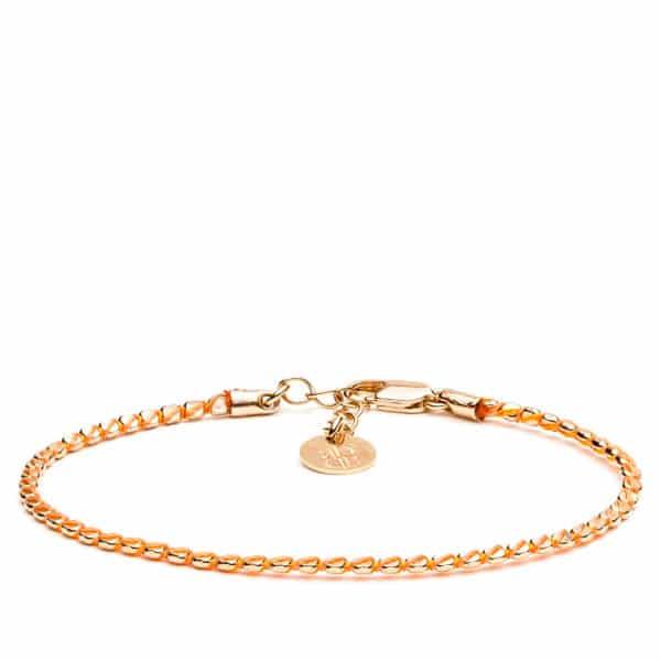 Bracelet chaîne superposée or rose