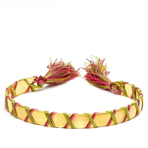 Bracelet croisillons doré