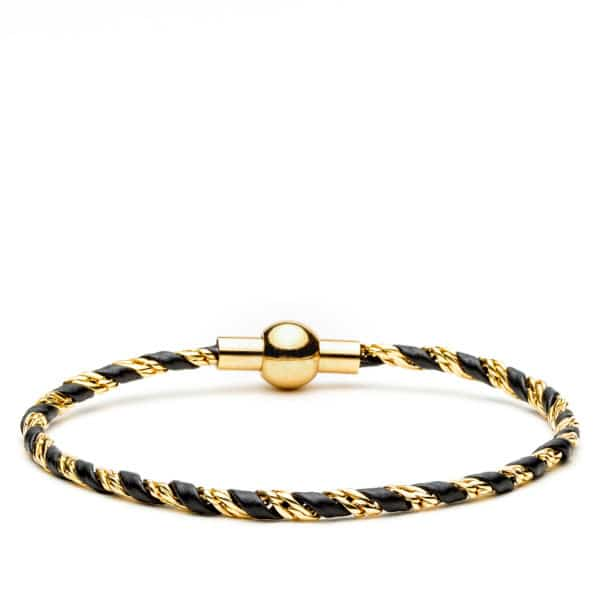 Bracelet cuir or fin