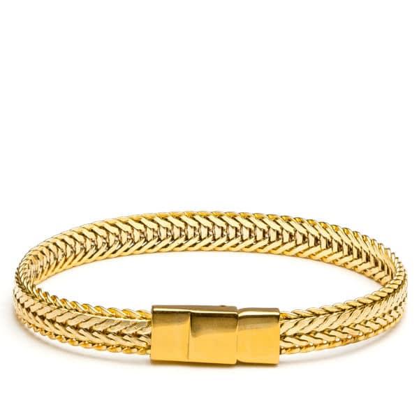 Bracelet jonc lat 1 cm or