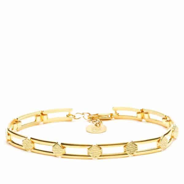 Bracelet maillon acrrés or