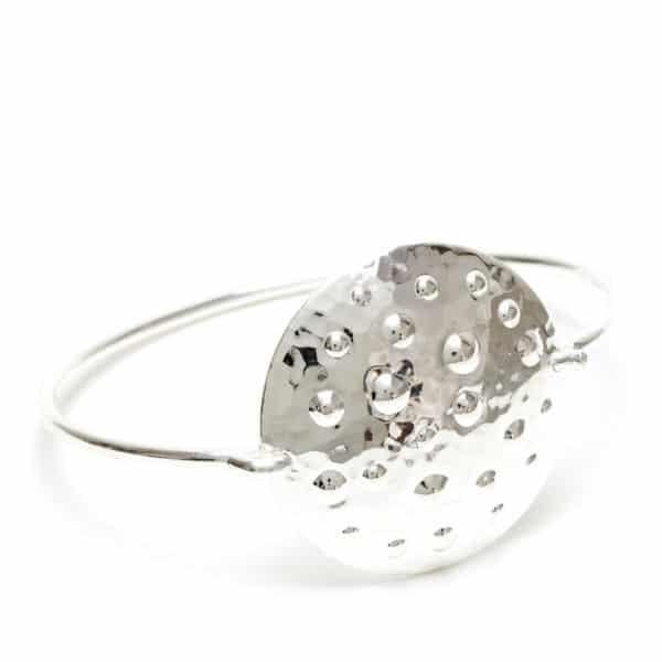 Bracelet bouclier argent