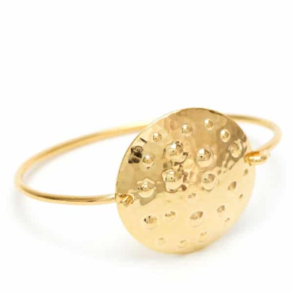 Bracelet bouclier or