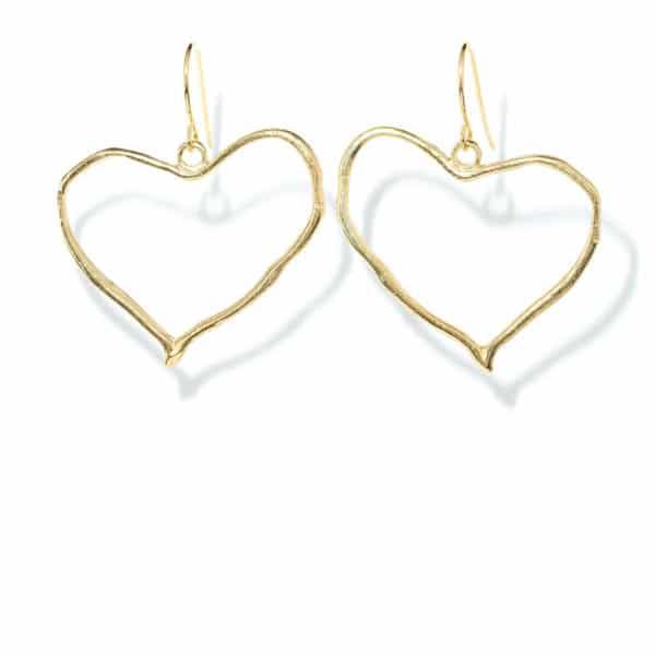 Boucles d'oreilles coeur or