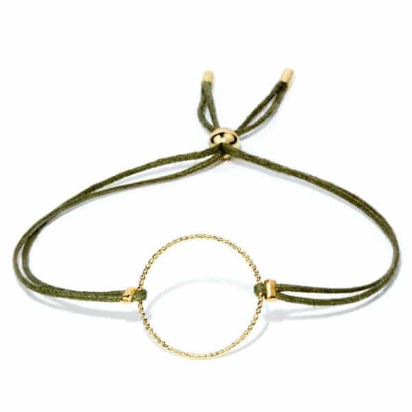 Bracelet vert kaki lien