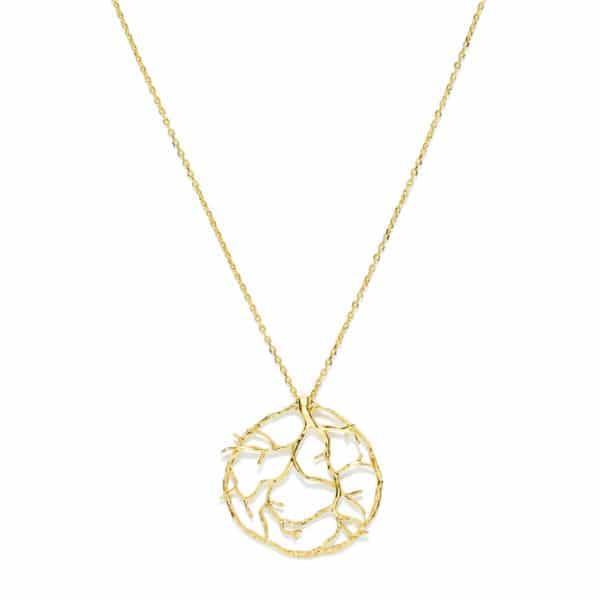 Médaille arbre de vie plaqué or