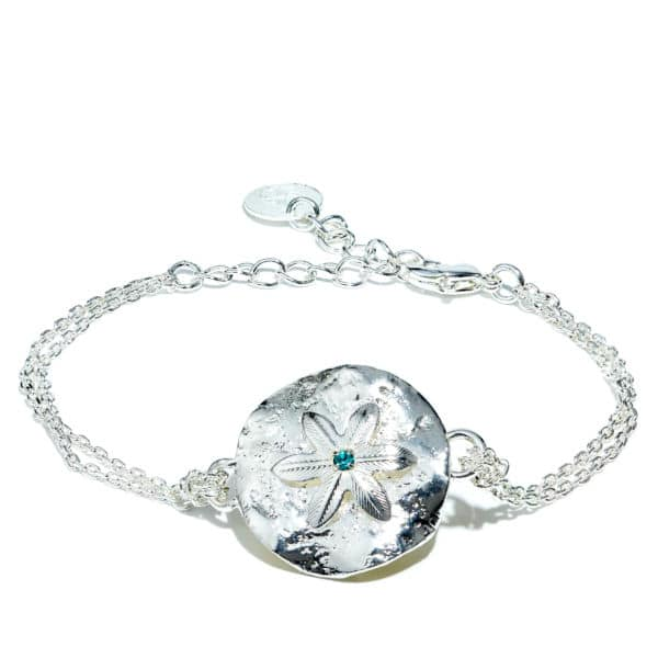 Bracelet chaîne argenté et strass