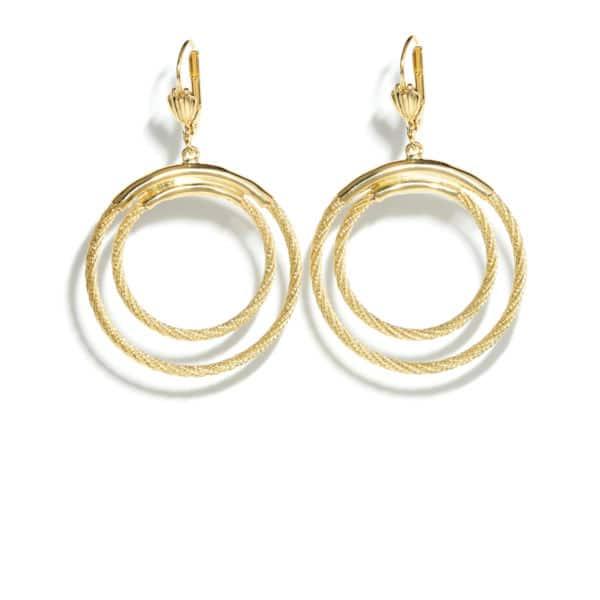 Boucles d'oreilles marché Charonne plaquées or